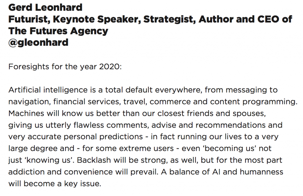 gerd shift 2020 AI machines human
