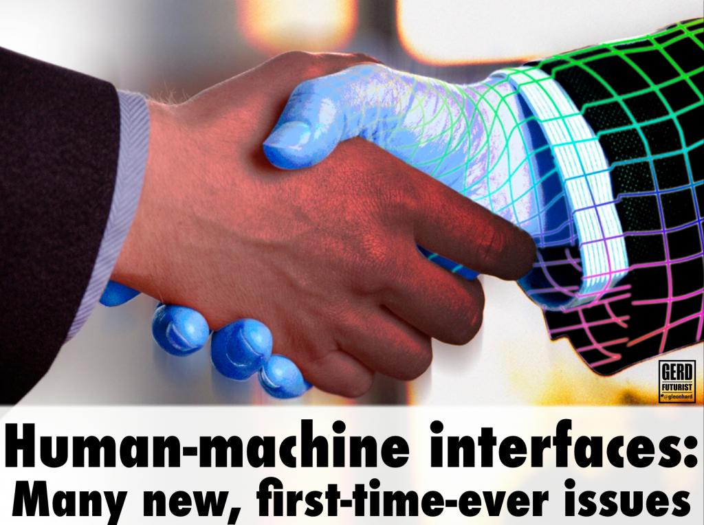 human machine interfaces challenges gerd leonhard futurist