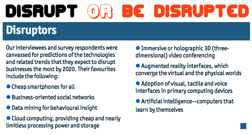 disrupt or be disrupted copy