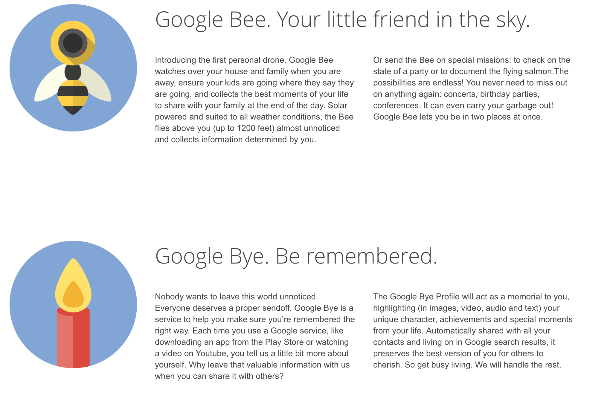 fake google products bee and bye