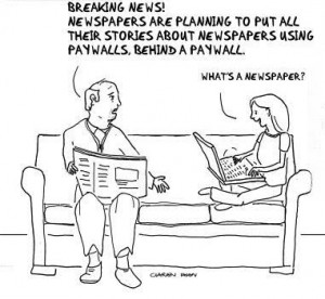 newspaper paywall joke