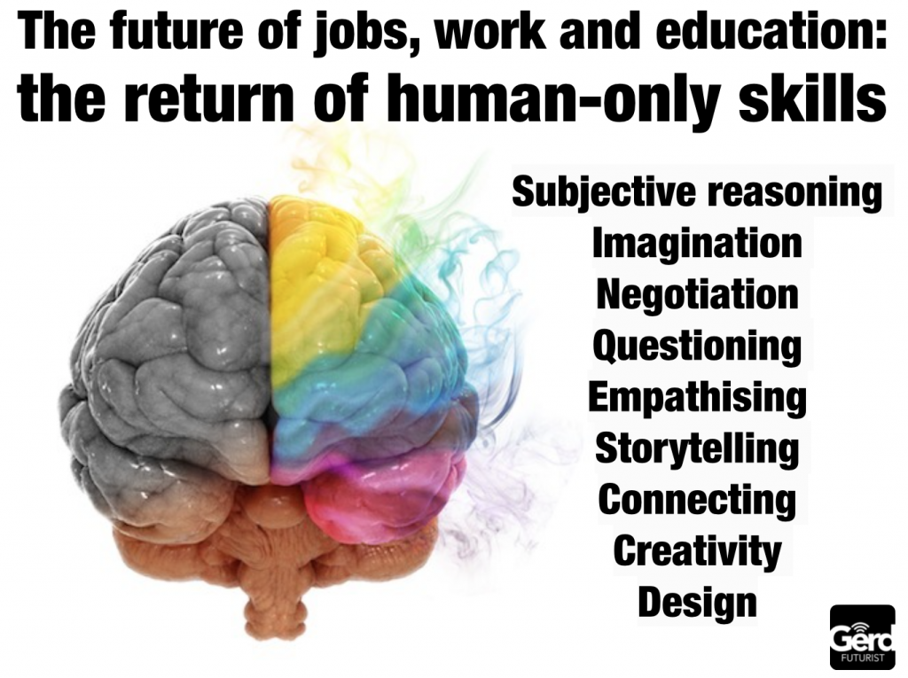 BoG Gerd Leonhard future of jobs work human only