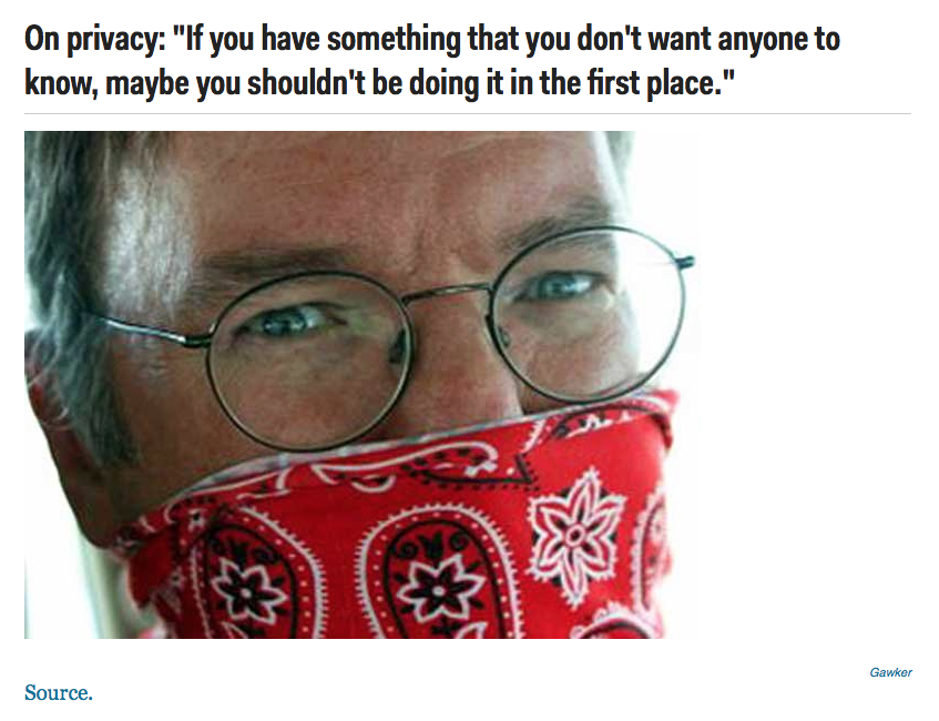 on privacy google schmidt quotes dont do in 1st place