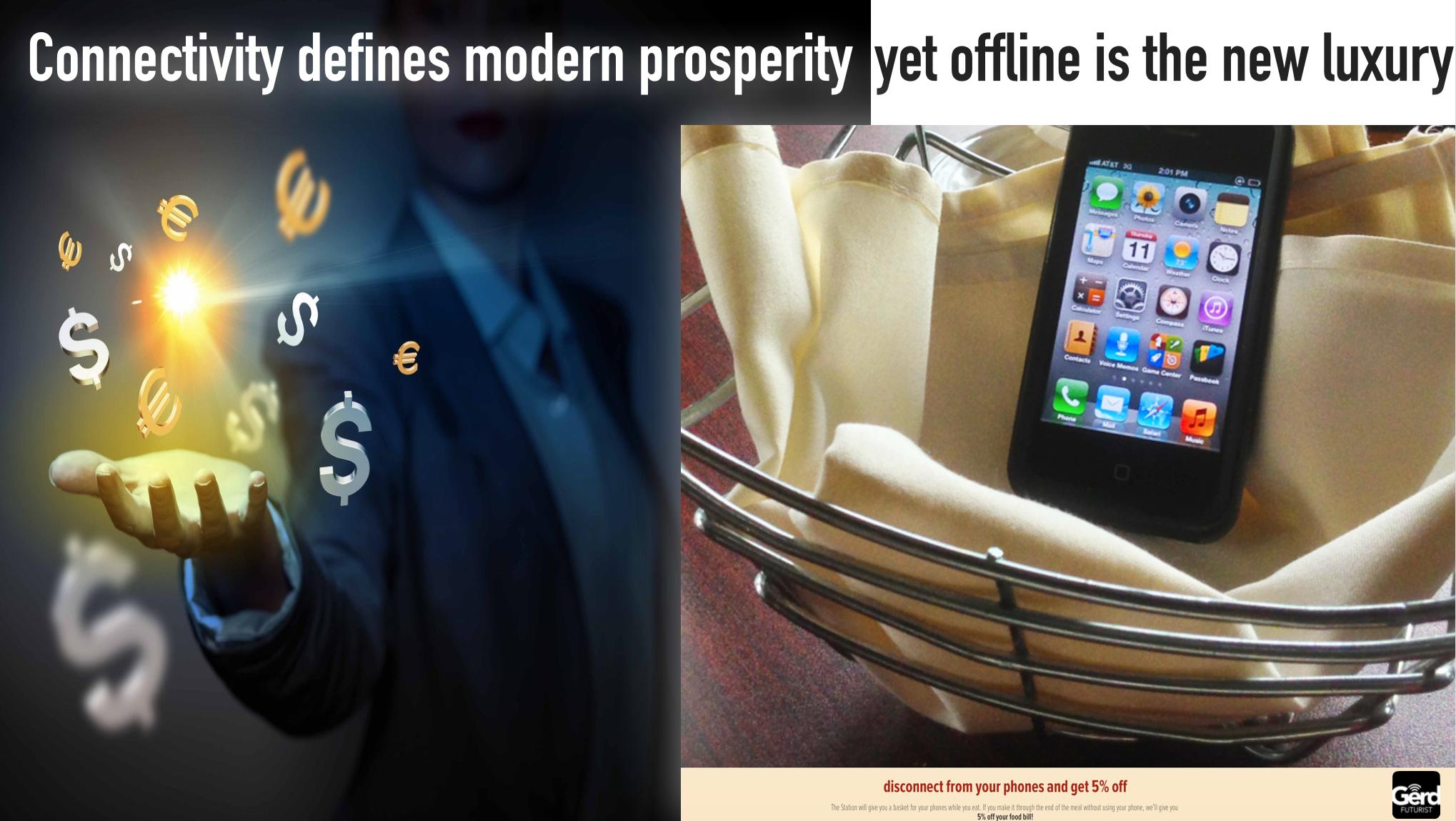 connectivity prosperity offline luxury gerd leonhard