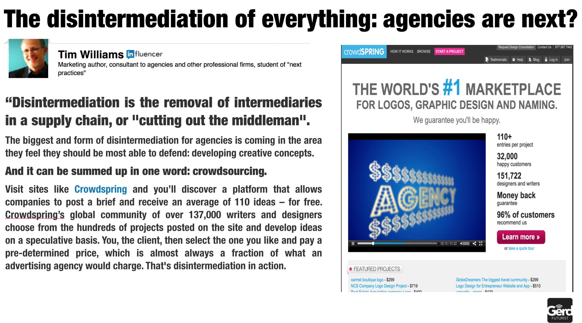 disintermediation of agencies futuristgerd