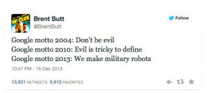 brent butt tweet google evil mutations