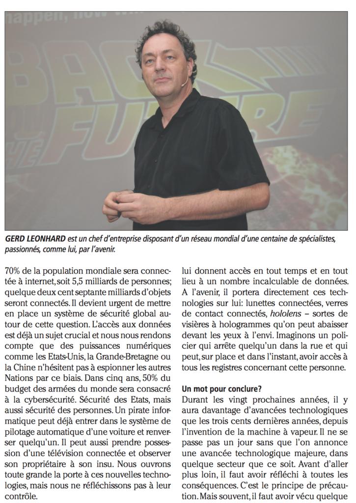 Gerd Leonhard French Interview