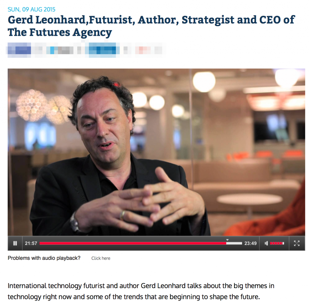 Gerd_Leonhard_Futurist__Author__Strategist_and_CEO_of_The_Futures_Agency_-_Audio_Player_-_Audio_-_RadioLIVE