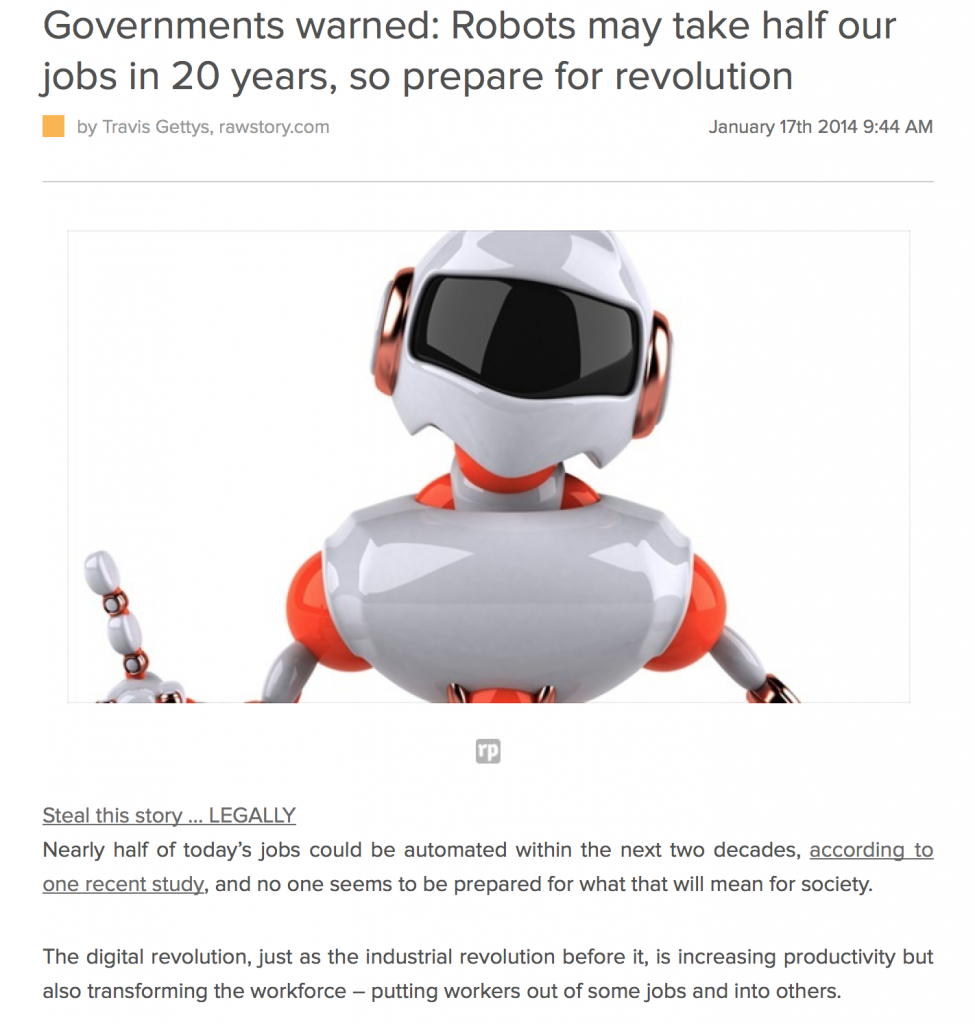 robots may take half our jobs work