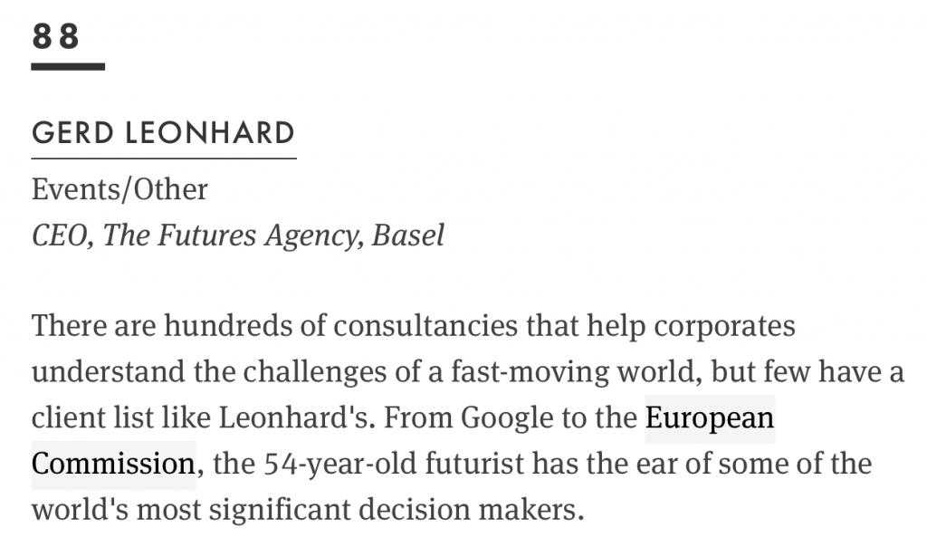 wired top 100 gerd leonhard futurist #88