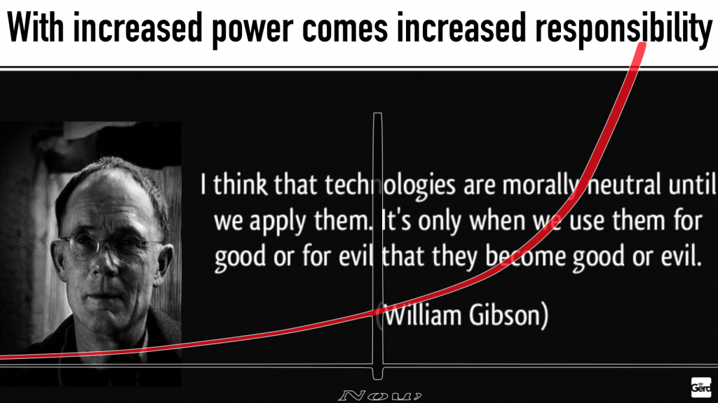 good evil increased responsibility gibson technology ethics gerd leonhard