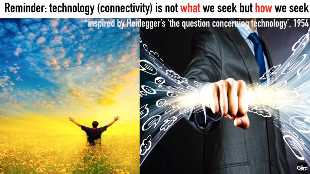 technology not WHAT we seek but HOW we seek heidegger gerd leonhard speaker