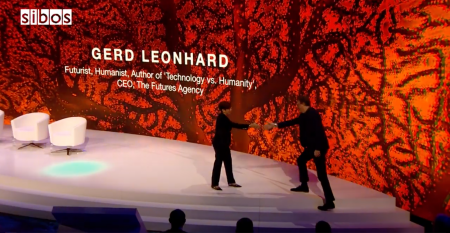 Futurist Gerd: Technology & Humanity: Our Future. SIBOS Innotribe 2019